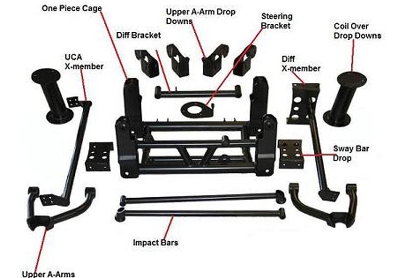Lift Kits For Chevy Silverado Chevy-GMC 1500 10-12 Inch Lift Kit 2007-2013