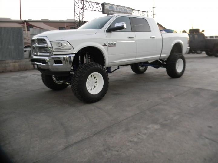 dodge ram 2500 3500 10 12 inch lift kit 2009 2013 - White 2014 Dodge Ram 2500 Lifted