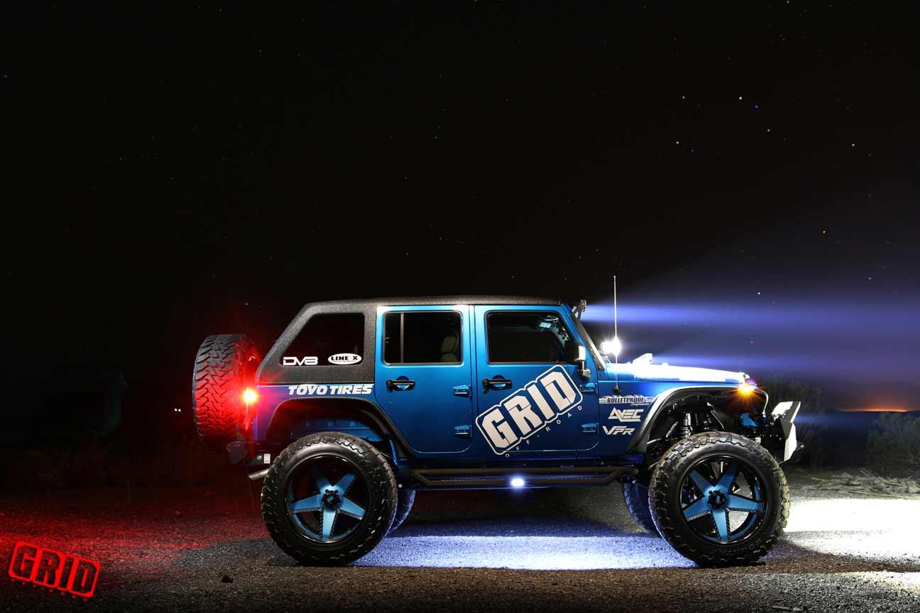 Grid Offroad Gf9 Blue Matte Black Jeep Wrangler Jk